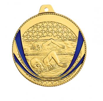 Médaille natation personnalisée M254