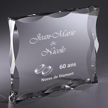 Trophée acrylique personnalisé PL072A