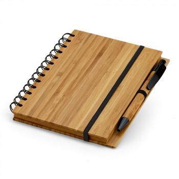 Bloc notes en bambou personnalisé 93485