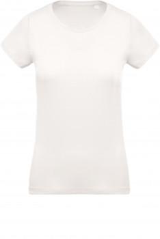 Tee-shirt coton BIO col rond femme personnalisé K391