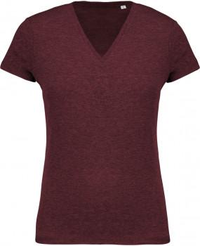 Tee-shirt coton BIO col V femme personnalisé K396