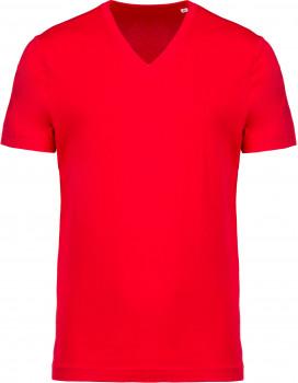 Tee-shirt coton BIO col V homme personnalisé K376