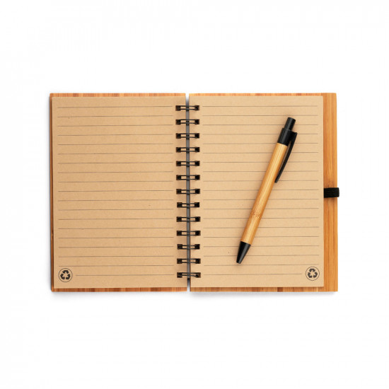 Bloc Notes en Bambou personnalisé