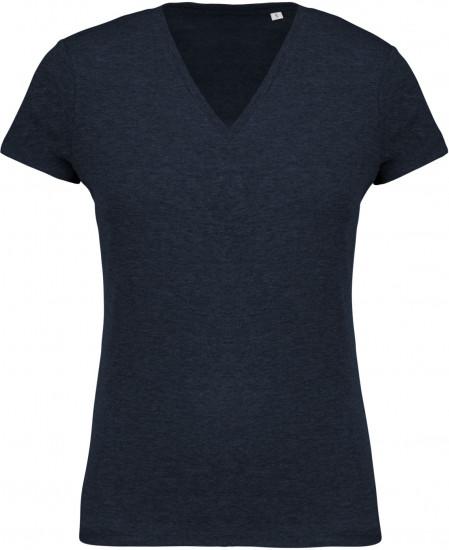 Tee-shirt Coton BIO Col V Femme personnalisé